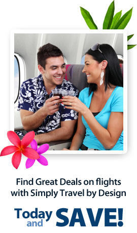 Find Great Deals on flights with Simply Travel by Design