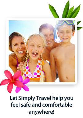 Let Simply Travel help you feel safe and comfortable anywhere!